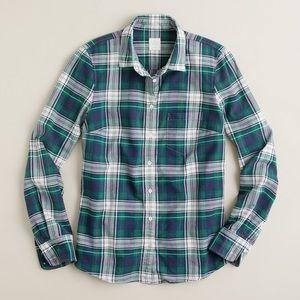 """J. Crew Tops - J. Crew   Carrick Tartan """"Boy Shirt"""" in Green"""